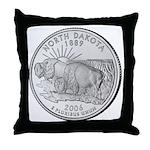 North Dakota State Quarter Throw Pillow