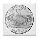 North Dakota State Quarter Tile Coaster