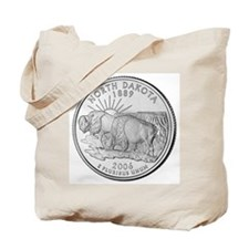 North Dakota State Quarter Tote Bag