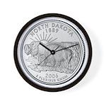 North Dakota State Quarter Wall Clock