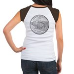 North Dakota State Quarter Women's Cap Sleeve T-Sh