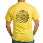 North Dakota State Quarter Yellow T-Shirt
