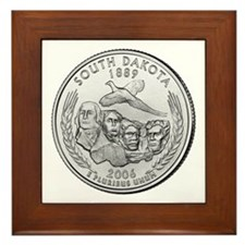 South Dakota State Quarter Framed Tile