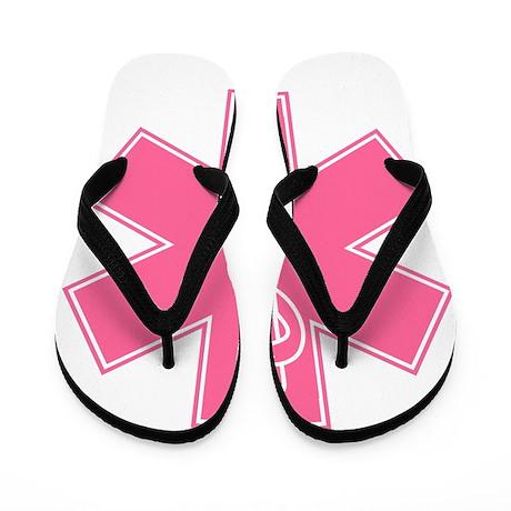 Pink Star of Life Flip Flops