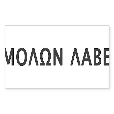 Molon Labe Sticker (Rectangle 10 pk)