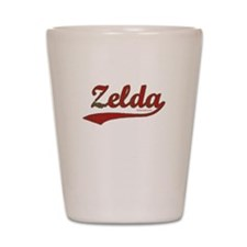 Zelda, Red Script Shot Glass