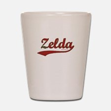 Zelda, Red Script Shot Glass