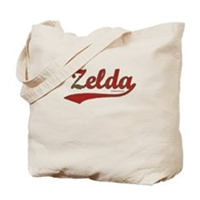 Zelda, Red Script Tote Bag