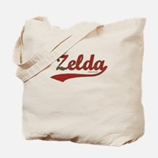Zelda, Red Script Tote Bag