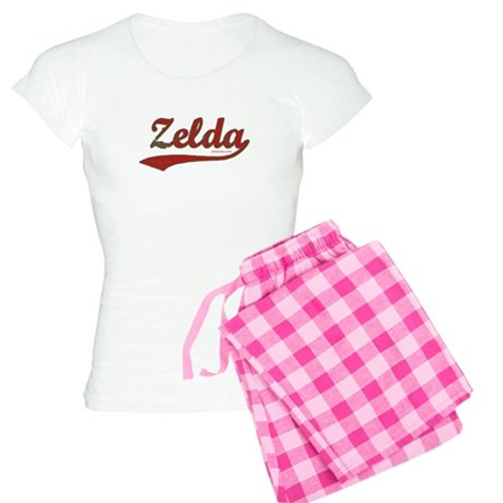 Zelda, Red Script Women's Light Pajamas