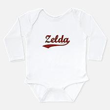 Zelda, Red Script Long Sleeve Infant Bodysuit
