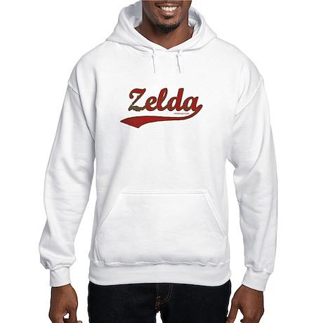 Zelda, Red Script Hooded Sweatshirt