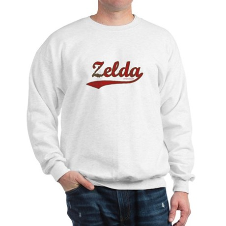 Zelda, Red Script Sweatshirt