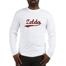 Zelda, Red Script Long Sleeve T-Shirt