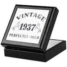 1937 Vintage w/ Horses Keepsake Box