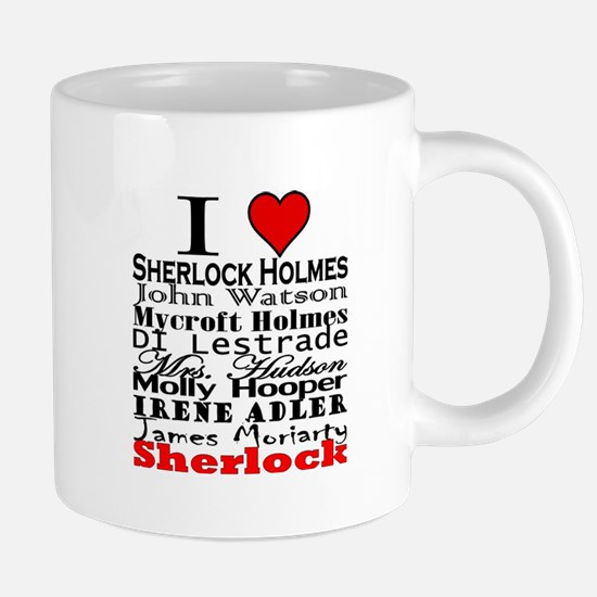 I Heart Sherlock Mugs