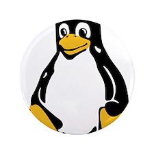 """Classic Tux Penguin 3.5"""" Button"""