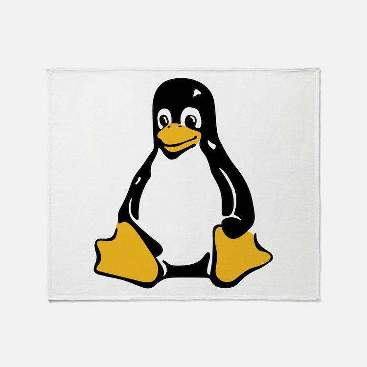 Classic Tux Penguin Throw Blanket
