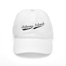 Midway Island Script Baseball Cap