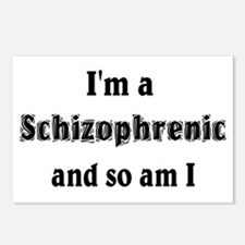 I'm A Schizophrenic Postcards (Package of 8)