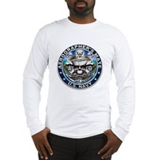 USN Aerographers's Mate Skull Long Sleeve T-Shirt