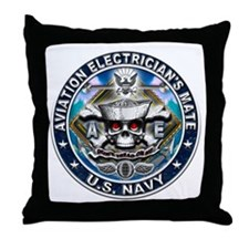 USN Aviation Electrician's Mate Throw Pillow