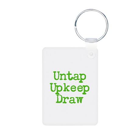 Untap Upkeep Draw Aluminum Photo Keychain
