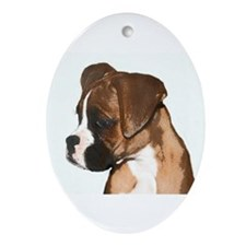 Boxer Dog Ornament (Oval)
