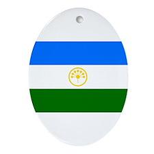 Bashkortostan Flag Ornament (Oval)