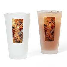 Art Nouveau Autumn Drinking Glass