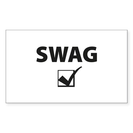 SWAG CHECK Sticker (Rectangle)