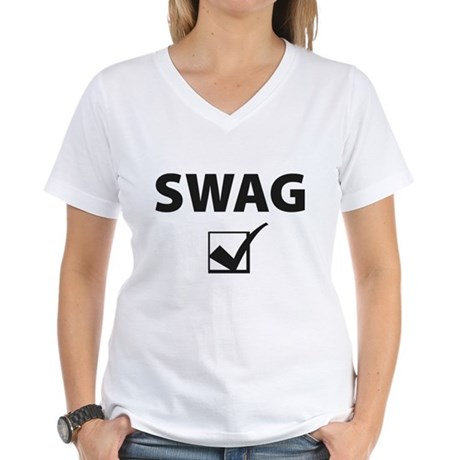 SWAG CHECK Women's V-Neck T-Shirt