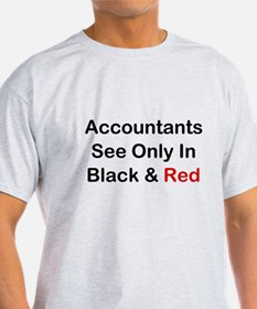 Accountants See Black & Red T-Shirt