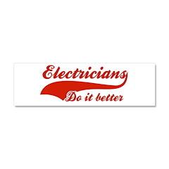 Electricians Do It Better Car Magnet 10 x 3