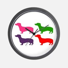 Pop Doxie II Wall Clock