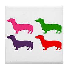 Pop Doxie II Tile Coaster