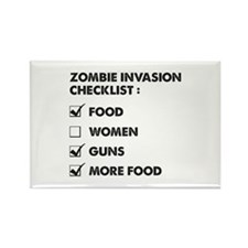 Zombie Invasion Checklist Rectangle Magnet (10 pac