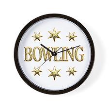 Bowling Stars Wall Clock