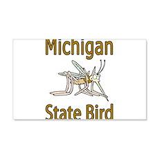 Michigan State Bird 22x14 Wall Peel