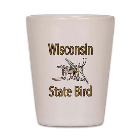 Wisconsin State Bird Shot Glass