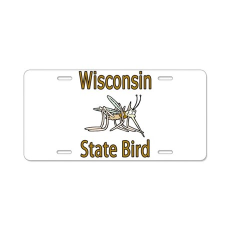 Wisconsin State Bird Aluminum License Plate