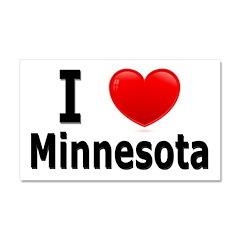 I Love Minnesota Car Magnet 20 x 12