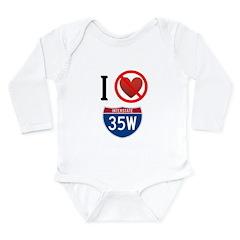 I Hate 35W Long Sleeve Infant Bodysuit