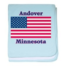 Andover Flag baby blanket