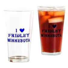I Love Fridley Winter Drinking Glass
