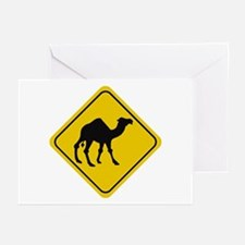 Camel Crossing Sign Greeting Cards (Pk of 10)