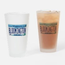 Bloomington License Plate Drinking Glass
