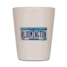 Bloomington License Plate Shot Glass