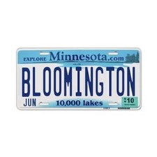 Bloomington License Plate Aluminum License Plate