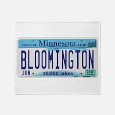 Bloomington License Plate Throw Blanket